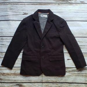 H&M boys 6-7y black dress coat